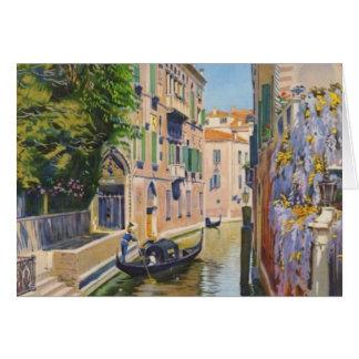 Viaje de Venecia Italia de las góndolas del Gran Tarjeta De Felicitación