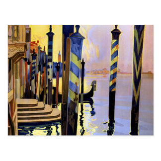 Viaje de Venecia Italia del Gran Canal del vintage Postal