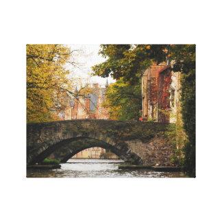 Viaje del canal de Brujas, Bélgica Impresión En Lienzo