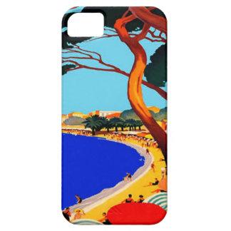 Viaje del francés de Cote d Azur del vintage iPhone 5 Case-Mate Funda