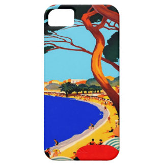 Viaje del francés de Cote d'Azur del vintage iPhone 5 Case-Mate Funda