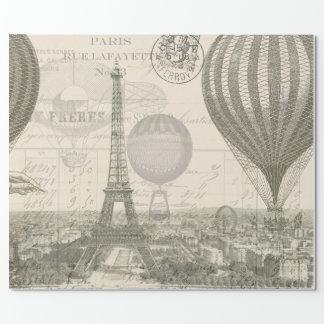 Viaje del globo de París Papel De Regalo