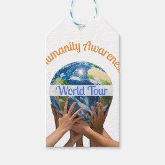 Viaje del mundo etiquetas para regalos