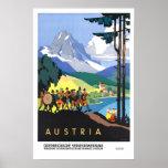 Viaje del vintage, Austria Posters