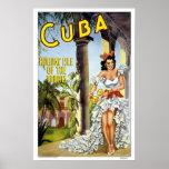 Viaje del vintage, Cuba Poster