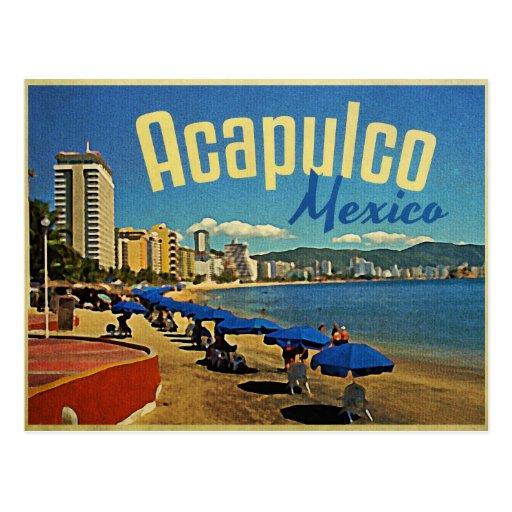 Viaje del vintage de Acapulco México Tarjetas Postales