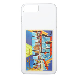 Viaje del vintage de Atlantic City 2 New Jersey NJ Funda iPhone 7 Plus