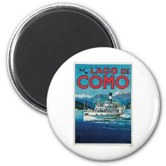 Viaje del vintage de Lago Di Como Italia Iman De Nevera