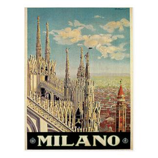 Viaje del vintage de Milano Milano Italia Postal