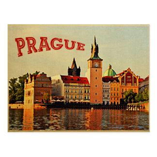 Viaje del vintage de Praga Postal