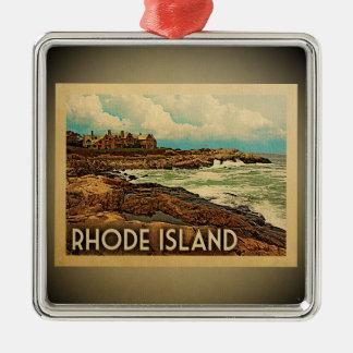 Viaje del vintage del ornamento de Rhode Island