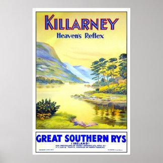 Viaje del vintage, Killarney Póster