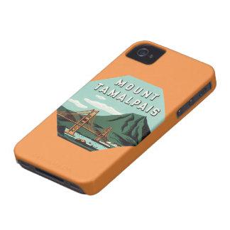 Viaje del vintage, soporte Tam, montaña de Case-Mate iPhone 4 Fundas