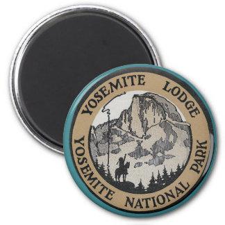Viaje del vintage - Yosemite Imán Redondo 5 Cm