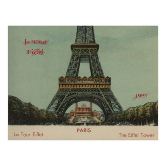 viaje Eiffel, 1928 del la - postal