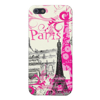 Viaje Eiffel, color rosado del La de PixDezines de iPhone 5 Carcasas