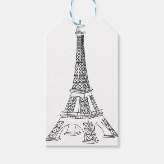 viaje Eiffel Etiquetas Para Regalos
