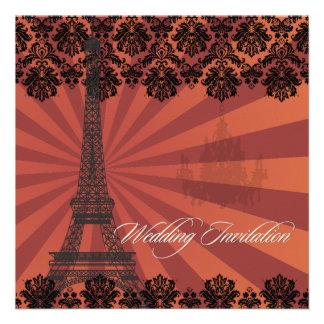 Viaje Eiffel/París del la de PixDezines Invitación