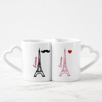 viaje Eiffel París Francia del la Set De Tazas De Café