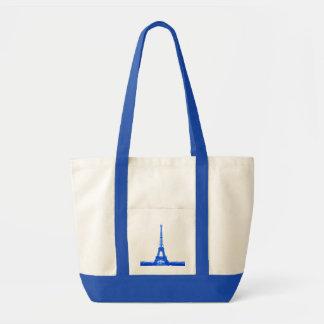 Viaje Eiffel tote-blue. del La Bolsa Tela Impulso