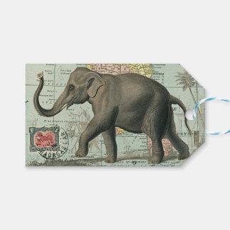 Viaje en Elefante - Etiqueta de Regalo