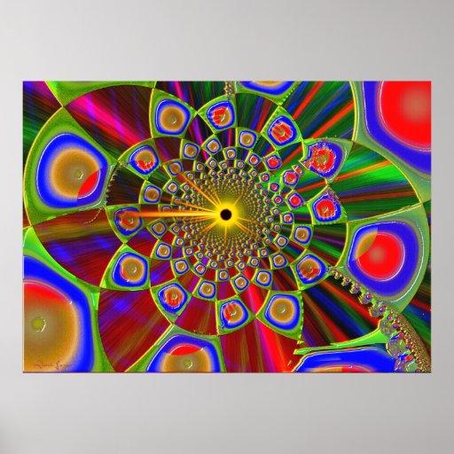Viaje en la óptica psicodélica 3d poster