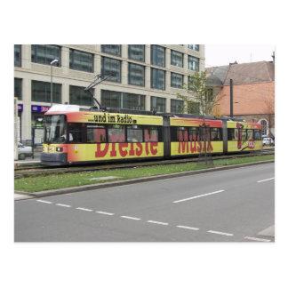 Viaje en tranvía en Berlín 1 Tarjeta Postal