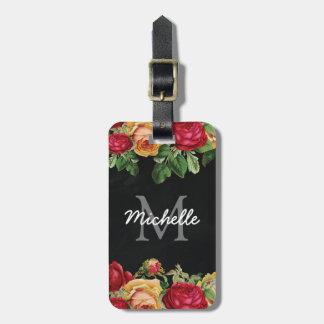 Viaje floral personalizado del vintage etiquetas para maletas