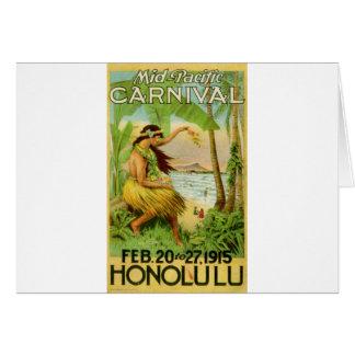 Viaje hawaiano del vintage tarjeta de felicitación
