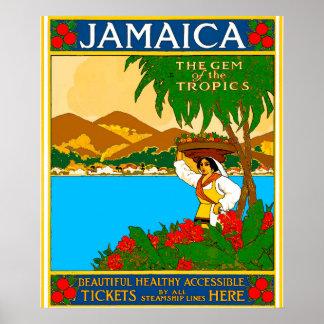 Viaje hermoso de Jamaica Póster