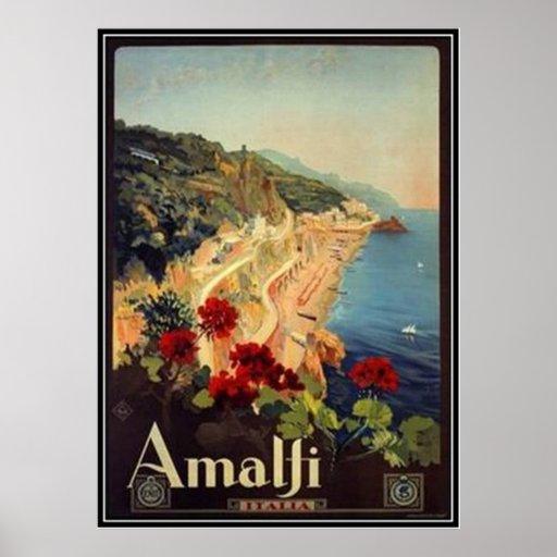Viaje Italia, Amalfi del vintage - Poster