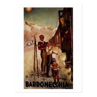 Viaje italiano antiguo de Bardonecchia del vintage Postal