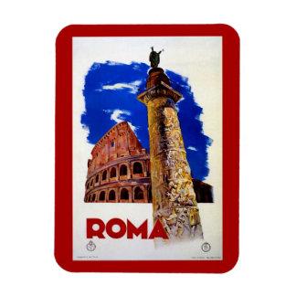 Viaje italiano de Roma Roma del vintage Imán De Vinilo