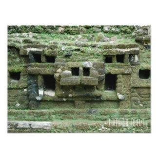 Viaje maya de Belice de la máscara de Jaguar de Foto