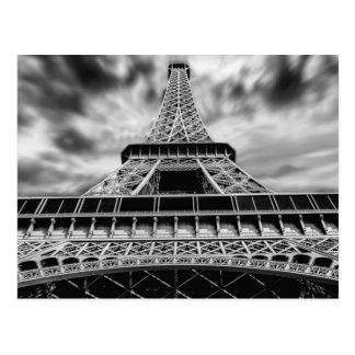 Viaje negro y blanco del francés de París de la Postal