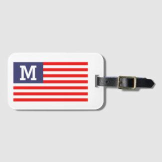 Viaje patriótico de la bandera americana del etiqueta para maletas
