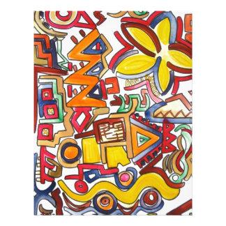 Viaje por carretera - arte abstracto folleto 21,6 x 28 cm