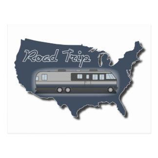 Viaje por carretera clásico de los E.E.U.U. de la Postal