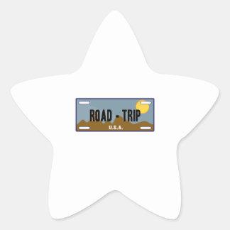 Viaje por carretera calcomanía forma de estrella personalizada