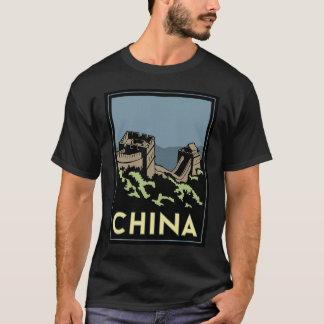 viaje retro del art déco de Asia de la Gran Camiseta