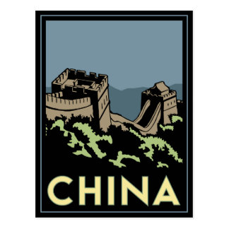 viaje retro del art déco de Asia de la Gran Postal