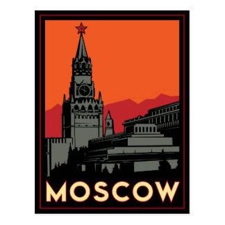 viaje retro del art déco de Moscú Rusia el Kremlin Postal