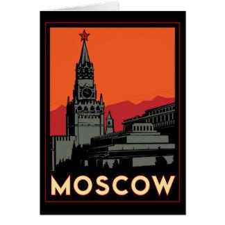 viaje retro del art déco de Moscú Rusia el Kremlin Tarjeta De Felicitación