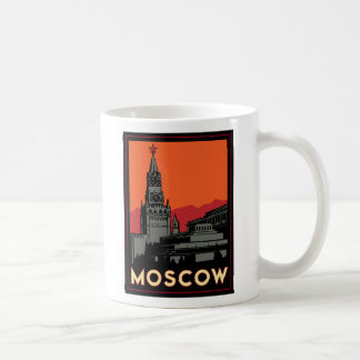 viaje retro del art déco de Moscú Rusia el Kremlin Taza Clásica