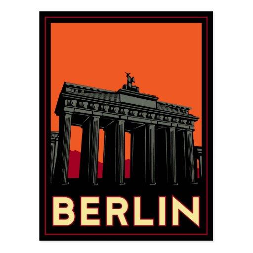 viaje retro del art déco más oktoberfest de Berlín Tarjeta Postal