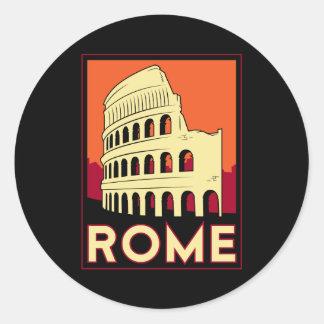 viaje retro del vintage de Europa del coliseo de R Etiqueta Redonda