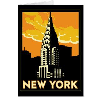 viaje retro del vintage de Nueva York Estados Tarjeta De Felicitación