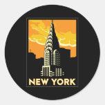 viaje retro del vintage de Nueva York Estados Unid Pegatina
