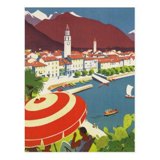 Viaje Suiza del vintage Postal