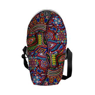 Viaje tribal maya mexicano de Boho del arte de Bolsa Messenger
